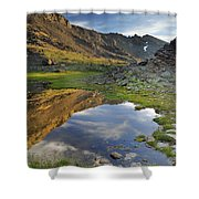 Reflections At The Mountain Lake Shower Curtain