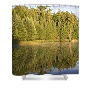 Reflections - Canisbay Lake - Detail Shower Curtain