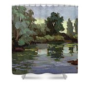 Reflections Duwamish River Shower Curtain