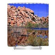Reflections In Barker Dam By Diana Sainz Shower Curtain