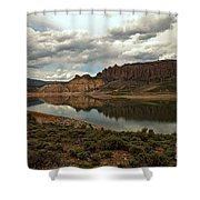Reflections In Blue Mesa Shower Curtain