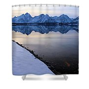 Reflections In Jackson Lake Shower Curtain