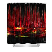 Reflections In Red Shower Curtain