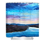 Reflections In River Jordan Israel Shower Curtain