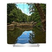 Reflections In Slippery Rock Creek Shower Curtain
