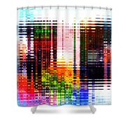 Reflections In Technicolor Shower Curtain
