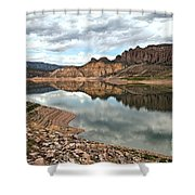 Reflections In The Blue Mesa Shower Curtain