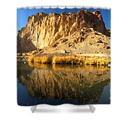 Reflections In The Crooked River Shower Curtain