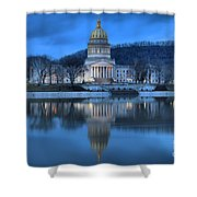 Reflections In The Kanawha River Shower Curtain