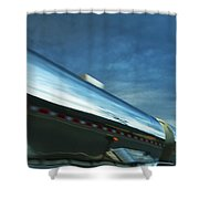 Reflections In The Passing Lane Shower Curtain