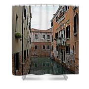 Reflections In Venetian Canal Shower Curtain