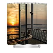 Reflections Of A Chesapeake Sunset Shower Curtain