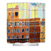 Reflections Of A City Shower Curtain