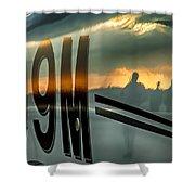 Reflections Of A Sunset Flight Shower Curtain