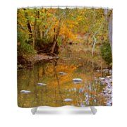 Reflections Of An Autumn Day Shower Curtain