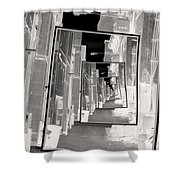 Reflections Of An Infrared Alley Shower Curtain
