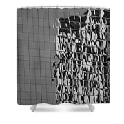 Reflections Of Architecture In Balck And White Shower Curtain