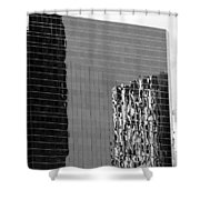 Reflections Of Architecture In Black And White Shower Curtain