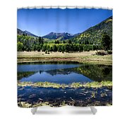 Reflections Of Blue  Shower Curtain
