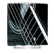 Reflections Of Music  Shower Curtain