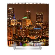 Reflections Of Pittsburgh Shower Curtain