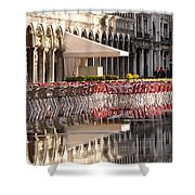 Reflections Of Saint Mark's Square -day Shower Curtain