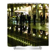 Reflections Of Saint Mark's Square-night Shower Curtain