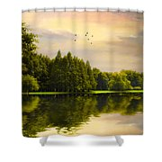 Reflections Of Summer Shower Curtain