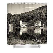 Reflections Of The Day Black And White Shower Curtain