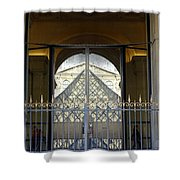Reflections Of The Musee Du Louvre In Paris France Shower Curtain