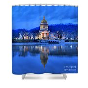 Reflections Of The West Virgina Capitol Building Shower Curtain