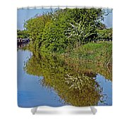 Reflections Of Trees Shower Curtain