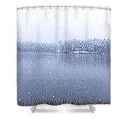 Reflections Of Winter Shower Curtain