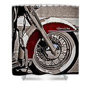 Reflections On A Motorcycle Shower Curtain