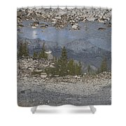 Reflections On A Mountain Stream Shower Curtain