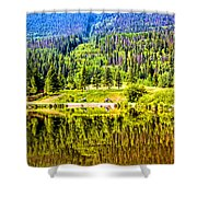 Reflections On A Summer Day - Vail - Colorado Shower Curtain