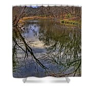 Reflections On A Warm Winter Day Shower Curtain