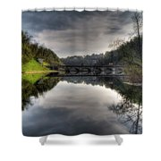 Reflections On Adda River Shower Curtain