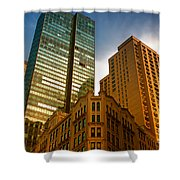 Reflections On Buildings Nyc Shower Curtain
