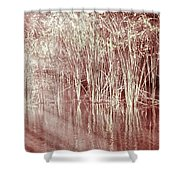 Reflections On Lake Trafford Shower Curtain