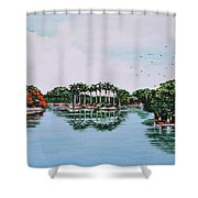 Reflections On Lal Bagh Lake Shower Curtain