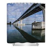 Reflections On Samoa Bridge Shower Curtain