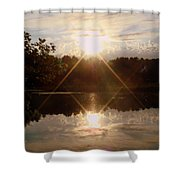 Reflections On The Bayou Shower Curtain