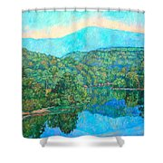 Reflections On The James River Shower Curtain