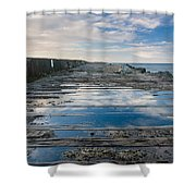 Reflections On The South Spit Shower Curtain