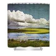 Reflections On Watership Down Shower Curtain