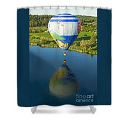 Reflections Over The Dechutes Shower Curtain