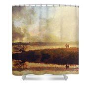 Reflections Shower Curtain by Pixel Chimp