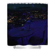 Reflections Table With A View Shower Curtain