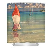 Reflections Shower Curtain by The Beach  Dreamer